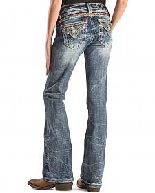 Miss Me Girls' Embroidered Back Yoke and Flap Pocket Jeans - Boot Cut