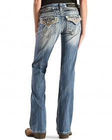 Miss Me Girls' Embellished Back Flap Pocket Jeans - Boot Cut