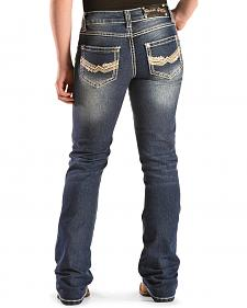 Crazy Cowboy Girls' Stitched Pocket Rodeo Girl Jeans - 7-14