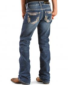 Crazy Cowboy Girls' Pink Stitch Bootcut Jeans - 7-16