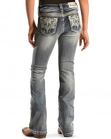 Grace in L.A. Girls' Medallion Bootcut Jeans - 7-16
