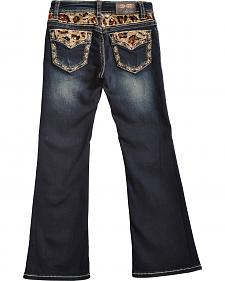Grace in LA Girls' Cheetah Print Bootcut Jeans