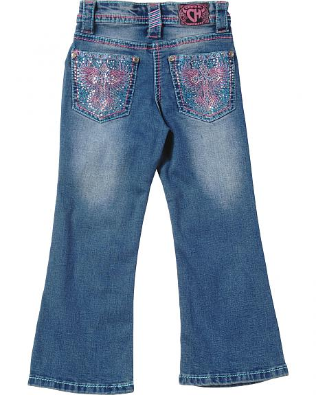 Cowgirl Hardware Toddler Girls' Pink Cross Classic Jeans