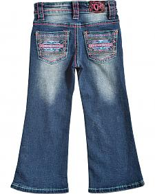 Cowgirl Hardware Toddler Girls' Pink Aztec Jeans