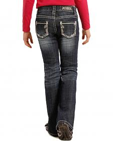 Rock and Roll Cowgirl Girls' Aztec Pocket Jeans - Boot Cut