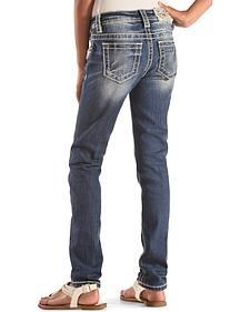 Miss Me Girls' Floral Pocket Jeans