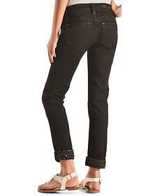 Miss Me Girls' Black Embellished Cuff Skinny Jeans