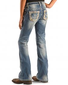Miss Me Girls' Embellished Indigo Jeans - Bootcut