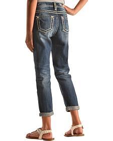 Miss Me Girls' Boyfriend Ankle Cuff Jeans