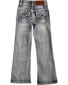 Cowgirl Legend May Lillie Girls' Faded Zig-Zag Jeans