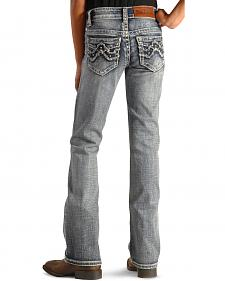Cowgirl Legend Girls' Zig Zag Embellished Bootcut Jeans