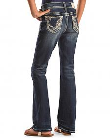 Grace in LA Girls' Abstract Bootcut Jeans