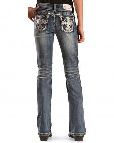 Grace in LA Girls' Scroll Bootcut Jeans