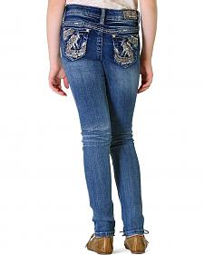 Grace in LA Girls' Abstract Skinny Jeans