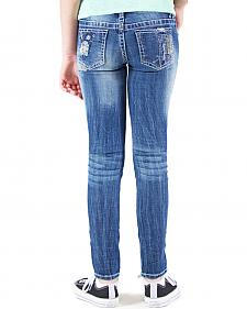 Grace in LA Girls' Embellished Skinny Jeans