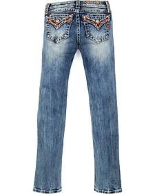 Miss Me Girls' Embellished Flap Skinny Jeans