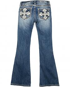 Miss Me Girls' Crossroads Boot Cut Jeans