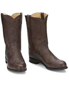 Justin Classics Deerlite Roper Cowboy Boots
