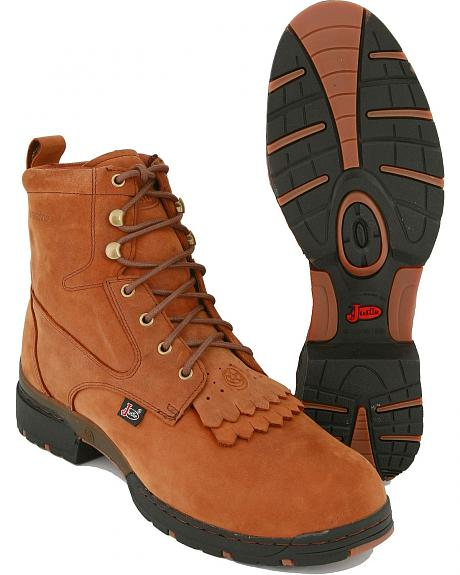 Justin George Strait 3.1 Series Waterproof Lacer Boots