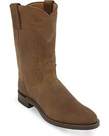 Original Justin Roper Cowboy Boots - Round Toe