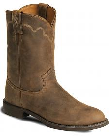 Justin Stampede Roper Cowboy Boots - Round Toe