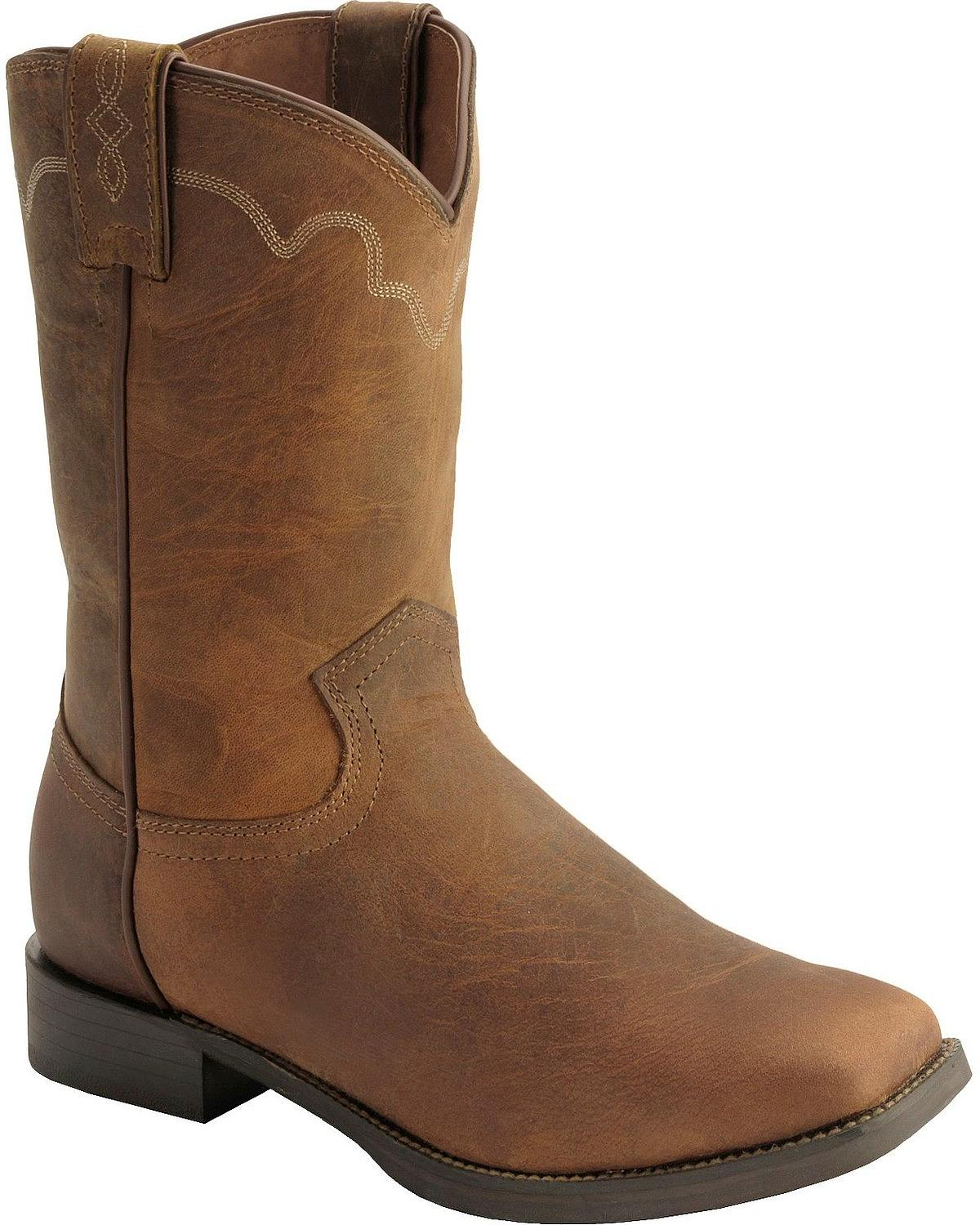 Justin Men S Stampede Roper Cowboy Boot Square Toe 3904