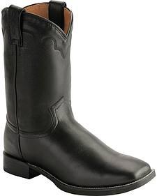 Justin Stampede Roper Cowboy Boots - Square Toe