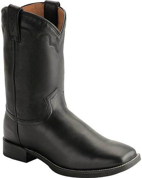 Justin Stampede Roper Cowboy Boots Square Toe Sheplers