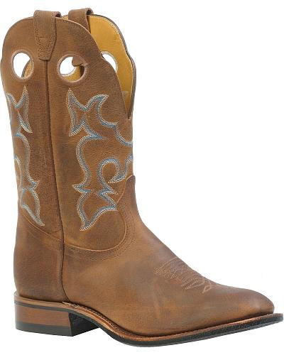 Boulet Roper Cowboy Boots Round Toe Western & Country 3069