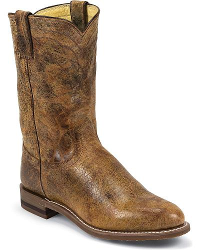 Justin Tan Road Roper Cowboy Boots Western & Country 3630