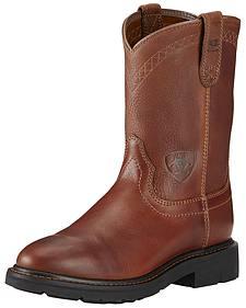 Ariat Sierra Cowboy Work Boots - Round Toe