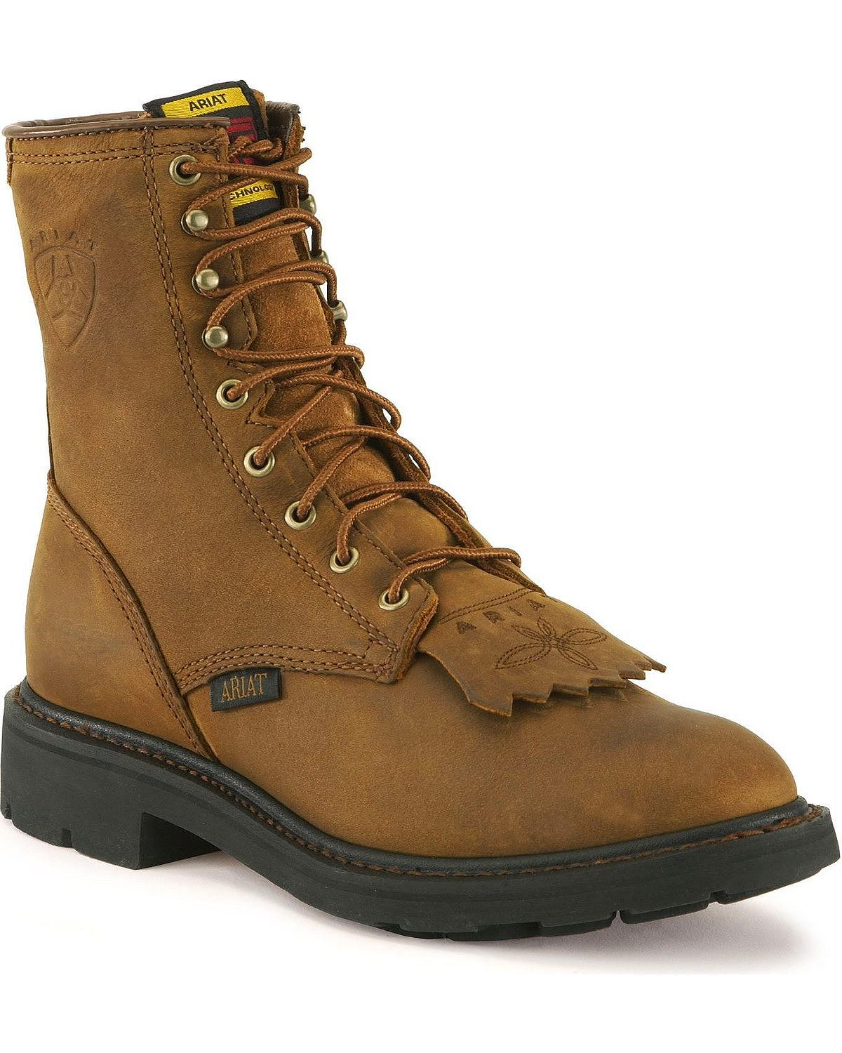 ariat work boots lace up