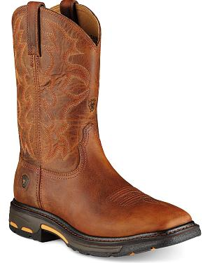 Ariat Workhog Pull-On Work Boots - Square Toe