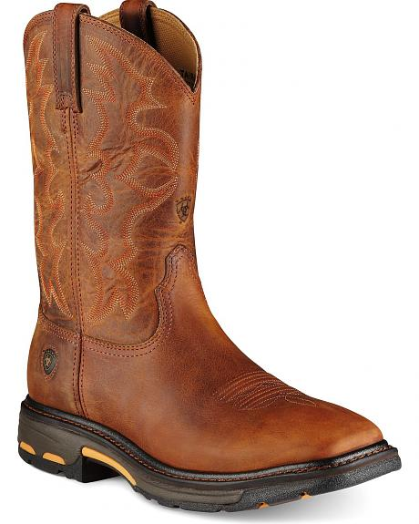 Ariat Workhog Pull-On Work Boots - Steel Toe