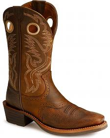 Ariat Heritage Rough Stock Cowboy Boots - Square Toe