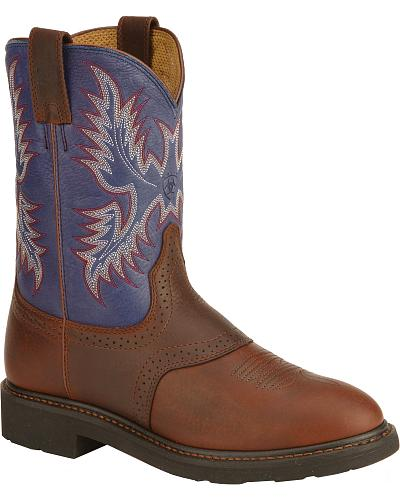 Ariat Sierra Saddle Vamp Work Boots Soft Toe Western & Country 10002306