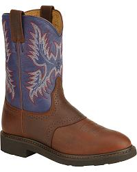 Ariat Sierra Saddle Vamp Work Boots - Soft Toe at Sheplers