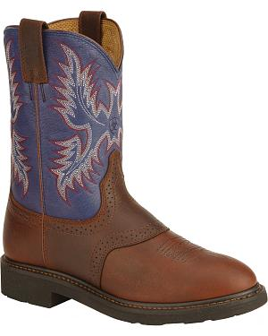 Ariat Sierra Saddle Vamp Work Boots - Soft Toe