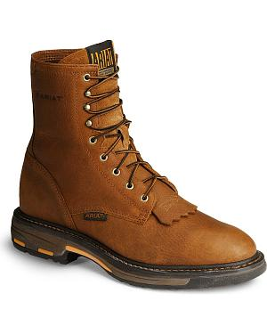 "Ariat Workhog 8"" Lace-Up Work Boots"