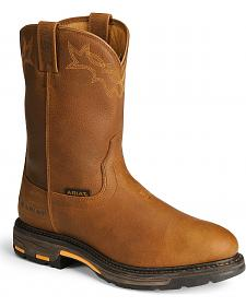 "Ariat Workhog 10"" Pull-On Roper Work Boots"