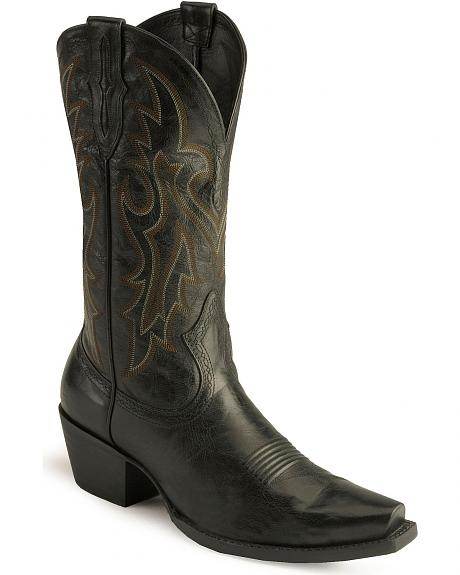 Ariat Heritage Cowboy Boots - Evolution Sole/Snip Toe