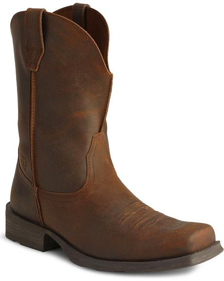 Ariat Distressed Rambler Cowboy Boots - Square Toe
