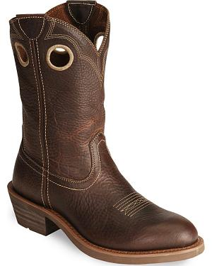 Ariat Trail Hand Western Work Boots  - Round Soft Toe
