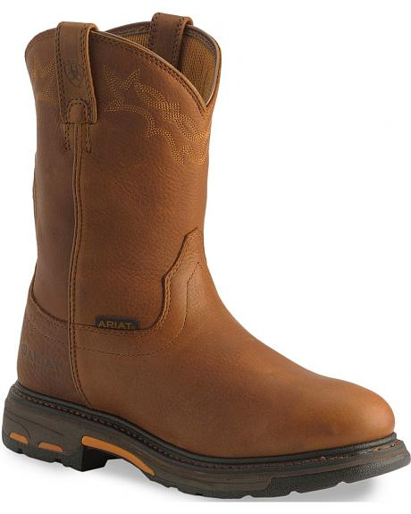 Ariat H20 Workhog Western Work Boots - Soft Toe