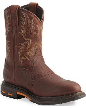 Ariat H2O Workhog Western Work Boots - Composition Toe