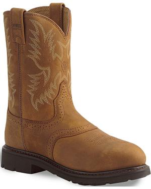 Ariat Sierra Cowboy Work Boots - Steel Toe