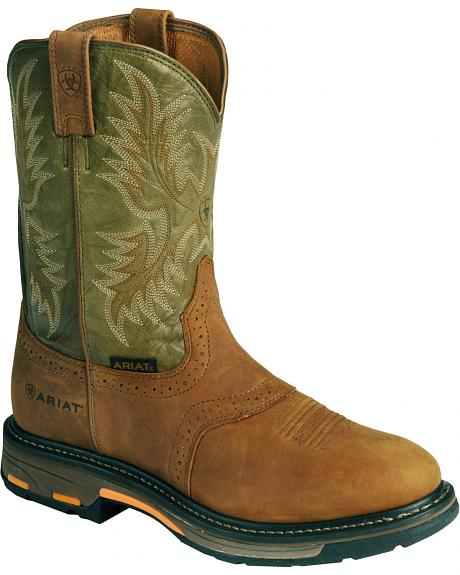 Ariat Workhog Western Work Boots - Composition Toe