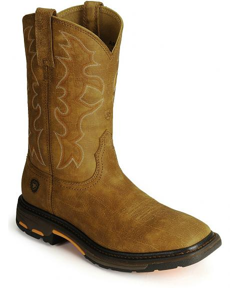 Ariat Workhog Western Work Boots - Steel Square Toe