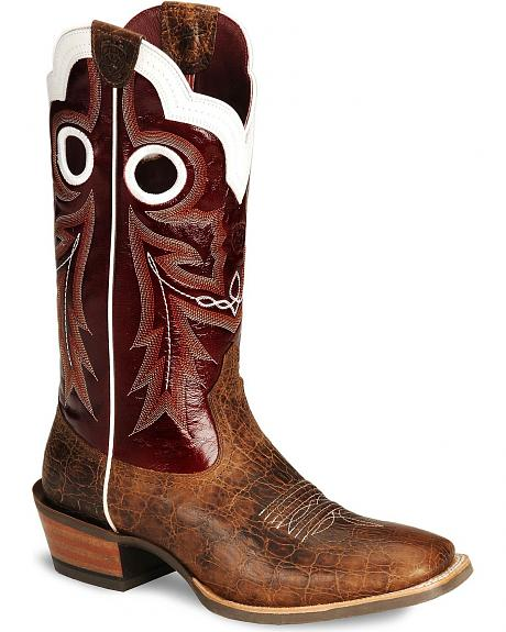 Ariat Wildstock Cowboy Boots - Wide Square Toe
