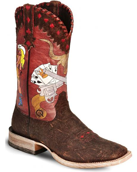 Ariat Quincy Leftys Luck Cowboy Boot - Wide Square Toe
